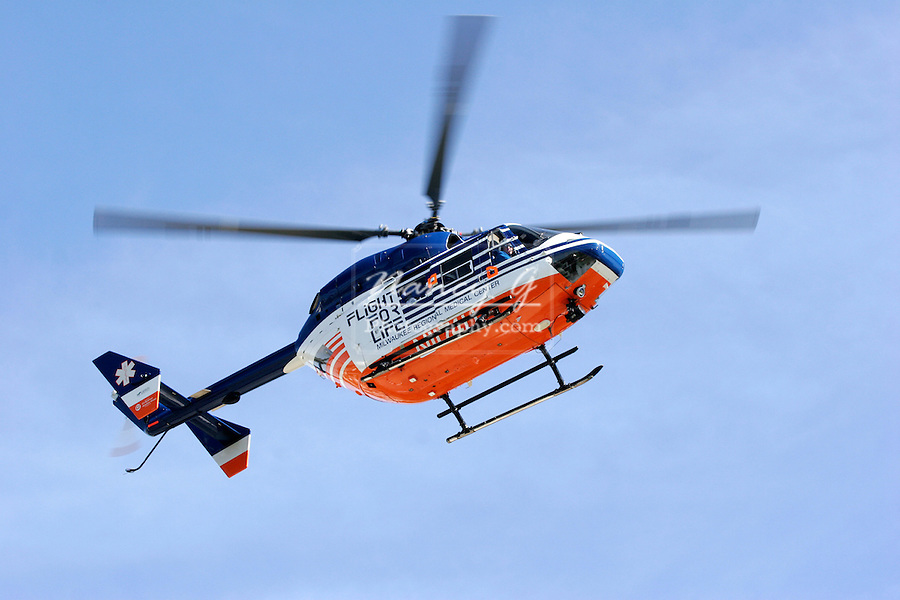 Flight for Life Helicopter for the Milwaukee Regional Medical Center for medical emergencies air rescue