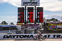Daytona Flat Track motorcycle racing action at AMA Daytona Flat Track, Daytona Beach, FL, March 2015.  (Photo by Brian Cleary/ www.bcpix.com )