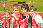 Castleisland Boys NS runners at the Kerry Primary School Sports County Finals in An Riocht Castleisland l-r: Shane McLoughlin, Shane O'Connell, Luke Lyons and Brian Leonard.