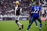 Blaise Matuidi of Juventus , Jeremy Toljan of US Sassuolo <br /> Torino 1-12-2019 Juventus Stadium <br /> Football Serie A 2019/2020 <br /> Juventus FC - US Sassuolo 2-2 <br /> Photo Federico Tardito / Insidefoto