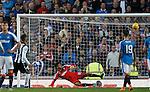Steven Thompson blasts over from the penalty spot for St Mirren