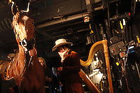 NEW YORK - NOV 30: The cast of Puccini's opera La Fanciulla del West perform a dress rehearsal on Tuesday, November 30, 2010, at The Metropolitan Opera in New York City.   (Photo by Landon Nordeman)