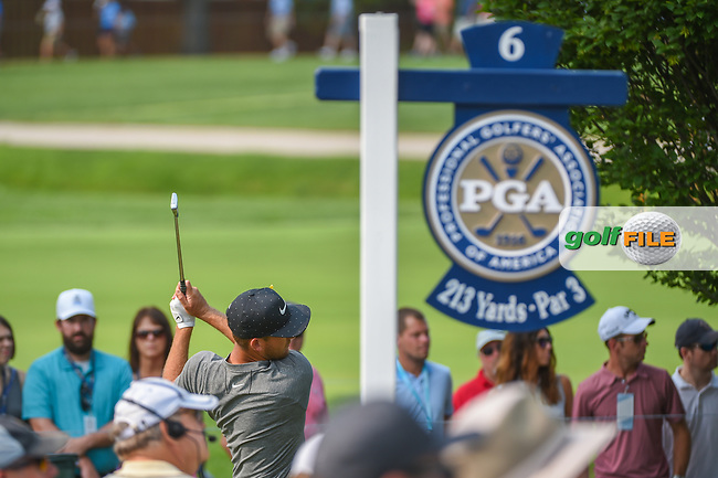 Kevin Chappell (USA) watches his tee shot on 6 during 4th round of the 100th PGA Championship at Bellerive Country Club, St. Louis, Missouri. 8/12/2018.<br /> Picture: Golffile   Ken Murray<br /> <br /> All photo usage must carry mandatory copyright credit (© Golffile   Ken Murray)
