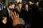 Presidential candidate Barack Obama, shakes the hands of supporters during an election rally in Kissimmee,  Fla Wednesday Oct 29 2008.  Americans will go to the polls on Nov 4, at a time of great Financial crisis, war in Iraq and Afghanistan, to elect a  new President. A vote, that will affect not only America, but the whole world. Photo by Eyal Warshavsky .