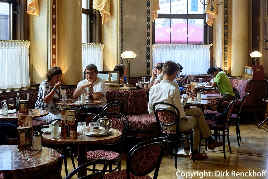 Caf&eacute; Central im Palast Ferste,l Herrengase 14, Wien , &Ouml;sterreich, UNESCO-Weltkulturerbe<br /> Caf&eacute; Central in Palais Ferstel, Herrengasse 14, Vienna, Austria, world heritage