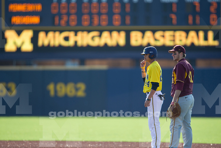 The University of Michigan baseball team beat Minnesota, 8-1, at the Wilpon Complex in Ann Arbor, Mich., on 4/3/14.