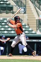 Baltimore Orioles outfielder Conor Bierfeldt (94) during an Instructional League game against the Tampa Bay Rays on September 15, 2014 at Ed Smith Stadium in Sarasota, Florida.  (Mike Janes/Four Seam Images)