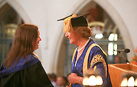 Degree ceremony with the Pro-Chancellor, Penelope Keith, actress, University of Surrey.