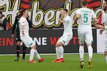 17.03.2019, BayArena, Leverkusen, GER, 1. FBL, Bayer 04 Leverkusen vs. SV Werder Bremen,<br />  <br /> DFL regulations prohibit any use of photographs as image sequences and/or quasi-video<br /> <br /> im Bild / picture shows: <br /> Torjubel / Jubel / Jubellauf,   Max Kruse (Werder Bremen #10),  mit Maximilian Eggestein (Werder Bremen #35), 1:0 fuer Bremen<br /> <br /> Foto © nordphoto / Meuter