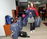 ODBOJKA, BEOGRAD, 21. Oct. 2010. - Odbojkasica Srbije Jelena Nikolic. Odbojkasice  Srbije otisle su danas u Kinu gde ce se pripremati za XVI SP 2010 koje se odigrava u Japanu. Foto: Nenad Negovanovic