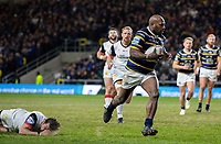 Leeds Rhinos' Rob Lui goes clear to score his first try<br /> <br /> Photographer Alex Dodd/CameraSport<br /> <br /> Betfred Super League Round 6 - Leeds Rhinos v Toronto Wolfpack - Thursday 5th March 2020 - Headingley - Leeds<br /> <br /> World Copyright © 2020 CameraSport. All rights reserved. 43 Linden Ave. Countesthorpe. Leicester. England. LE8 5PG - Tel: +44 (0) 116 277 4147 - admin@camerasport.com - www.camerasport.com