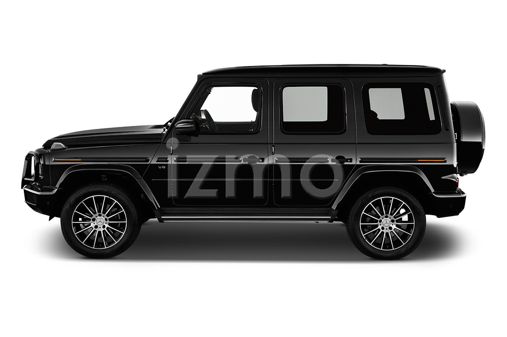 Car Driver side profile view of a 2019 Mercedes Benz G-Class G-550 5 Door SUV Side View