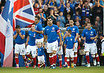 Rangers Captain Carlos Bocanegra leads out Rangers at home