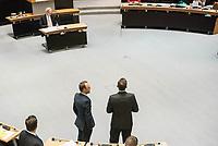 Plenarsitzung des Berliner Abgeordnetenhaus am Donnerstag den 25. Januar 2018.<br /> Im Bild: Sebastian Czaja, FDP-Fraktionsvorsitzender (links) im Gespraech mit Florian Graf, CDU-Fraktionsvorsitzender (rechts) blicken auf die Regierungsbank.<br /> 25.1.2018, Berlin<br /> Copyright: Christian-Ditsch.de<br /> [Inhaltsveraendernde Manipulation des Fotos nur nach ausdruecklicher Genehmigung des Fotografen. Vereinbarungen ueber Abtretung von Persoenlichkeitsrechten/Model Release der abgebildeten Person/Personen liegen nicht vor. NO MODEL RELEASE! Nur fuer Redaktionelle Zwecke. Don't publish without copyright Christian-Ditsch.de, Veroeffentlichung nur mit Fotografennennung, sowie gegen Honorar, MwSt. und Beleg. Konto: I N G - D i B a, IBAN DE58500105175400192269, BIC INGDDEFFXXX, Kontakt: post@christian-ditsch.de<br /> Bei der Bearbeitung der Dateiinformationen darf die Urheberkennzeichnung in den EXIF- und  IPTC-Daten nicht entfernt werden, diese sind in digitalen Medien nach §95c UrhG rechtlich geschuetzt. Der Urhebervermerk wird gemaess §13 UrhG verlangt.]