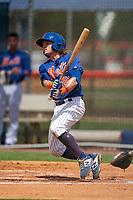 GCL Mets Nick Conti (27) at bat during a Gulf Coast League game against the GCL Marlins on August 11, 2019 at St. Lucie Sports Complex in St. Lucie, Florida.  GCL Marlins defeated the GCL Mets 3-2 in the second game of a doubleheader.  (Mike Janes/Four Seam Images)
