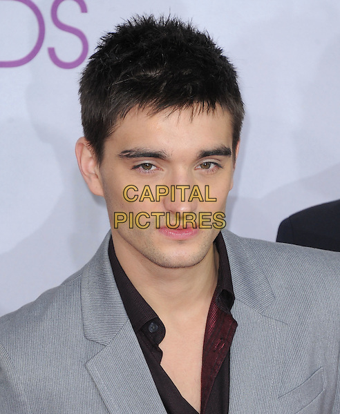 The Wanted - Tom Parker .The 2013 People's Choice Awards held at Nokia Live in Los Angeles, California 9th January 2013                                                                   .headshot portrait grey gray black band group .CAP/DVS.©DVS/Capital Pictures.