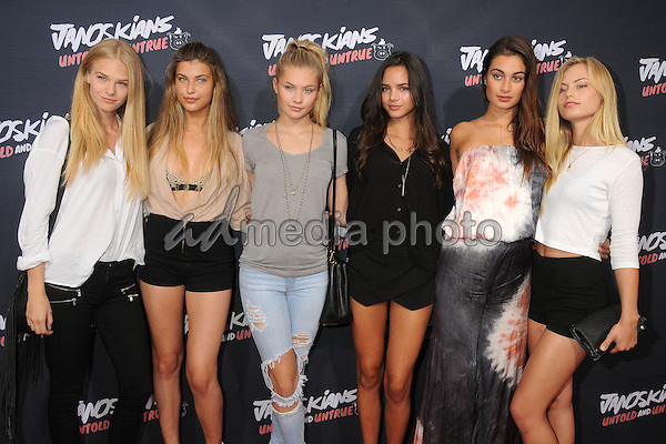 "25 August 2015 - Westwood, California - KJ Skorge, Charlotte D. Alessio, Josie Canseco, Christine Burke, Milena Gorum, Ashley Graves. ""Janoskians: Untold and Untrue"" Los Angeles Premiere held at the Regency Bruin Theatre. Photo Credit: Byron Purvis/AdMedia"