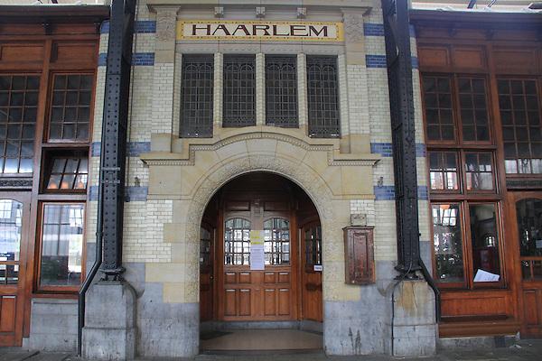 Train station in Haarlem, Holland, the Netherlands.