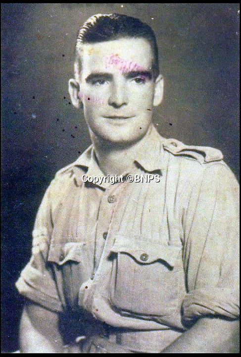 BNPS.co.uk (01202)558833Pic:  GavDon/BNPS<br /> <br /> Bombadier Alfred Robert Child, a Royal Marine the 7th Commando assigned to the SBS and father of Colin Child who is backing the campaign.<br /> <br /> The relatives of the crew of a lost British submarine have gathered together to mark the 77th anniversary of their deaths and are determined to finally track down their watery tomb...<br /> <br /> Poignantly, the families met up on HMS Alliance, the only remaining WW2 era British submarine based at the Royal Navy's submarine museum in Gosport.<br /> <br /> Royal Navy submarine HMS Triumph is thought to have been sunk by a German mine whilst on a top secret mission in the Aegean on the 9th of January 1942, but their final resting place has never been found.<br /> <br /> They were traced and brought together by Gav Don, who is on a one-man mission to find the wreck of the submarine that is somewhere in the <br /> Aegean Sea.<br /> <br /> The former Royal Navy officer's uncle Robert Douglas-Don died with the rest of the 62-strong crew in January 1942.<br /> <br /> At the time the submarine was on a top secret mission to recover 18 escaped Allied soldiers from a remote Greek island.