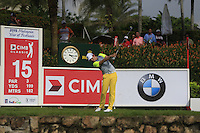 Seung-Yul Noh (KOR) on the 15th tee during Round 3 of the CIMB Classic in the Kuala Lumpur Golf & Country Club on Saturday 1st November 2014.<br /> Picture:  Thos Caffrey / www.golffile.ie