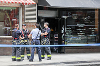 NEW YORK, EUA, 29.06.2017 - INCENDIO-EUA - Incendio em um edificio na esquina da Brodway com a rua E8 em Manhattan na cidade de New York nesta quinta-feira, 29. Ninguem ficou ferido. (Foto: Vanessa Carvalho/Brazil Photo Press)