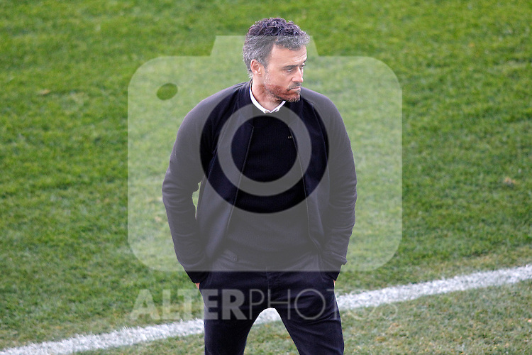 FC Barcelona's coach Luis Enrique Martinez during La Liga match. February 26,2017. (ALTERPHOTOS/Acero)