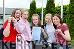 Amy Kerrisk, Caitlin Kerin, Amy O'Sullivan, Laura Corlett and Ellen Coffey St Brigids Killarney Presentation delighted to finally get their Leaving Cert underway on Wednesday
