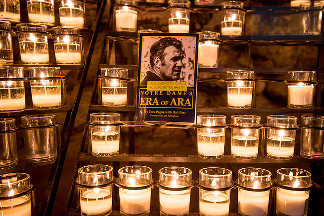 August 2, 2017; Tribute to former football coach Ara Parseghian who passed away August 2, 2017. (Photo by Matt Cashore/University of Notre Dame)