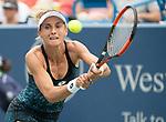 August  15, 2018:  Lesia Tsurenko (UKR) defeated Garbine Muguruza (ESP) 2-6, 6-4 6-4, at the Western & Southern Open being played at Lindner Family Tennis Center in Mason, Ohio. ©Leslie Billman/Tennisclix/CSM