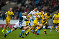 24th November 2019; AJ Bell Stadium, Salford, Lancashire, England; European Champions Cup Rugby, Sale Sharks versus La Rochelle; Vincent Rattez of La Rochelle runs in a try - Editorial Use