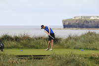 Evan Farrell (Ardee) on the 4th tee during Matchplay Round 2 of the South of Ireland Amateur Open Championship at LaHinch Golf Club on Friday 22nd July 2016.<br /> Picture:  Golffile | Thos Caffrey<br /> <br /> All photos usage must carry mandatory copyright credit   (© Golffile | Thos Caffrey)
