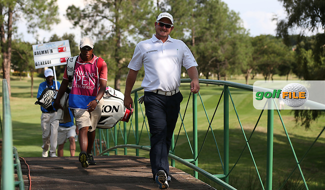 Smile you're crossing the bridge on the 17th; Merrick Bremner (RSA) during Round Three of the Tshwane Open 2015 at the Pretoria Country Club, Waterkloof, Pretoria, South Africa. Picture:  David Lloyd / www.golffile.ie. 14/03/2015