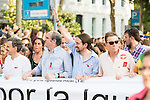 Leader &quot;Podemos&quot; Pablo Iglesias attends to the protest during Gay Pride celebrations in Madrid, Spain. July 04, 2015.<br />  (ALTERPHOTOS/BorjaB.Hojas)