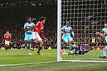 Marouane Fellaini of Manchester United sees his close range effort saved by West Ham's Adrian - Manchester United vs West Ham United - Barclay's Premier League - Old Trafford - Manchester - 05/12/2015 Pic Philip Oldham/SportImage