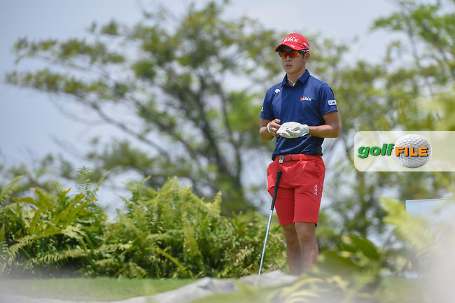 Keita NAKAJIMA (JPN) looks over his tee shot on 4 during Rd 2 of the Asia-Pacific Amateur Championship, Sentosa Golf Club, Singapore. 10/5/2018.<br /> Picture: Golffile | Ken Murray<br /> <br /> <br /> All photo usage must carry mandatory copyright credit (© Golffile | Ken Murray)