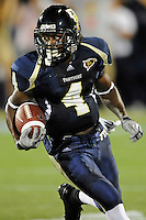 11 September 2010:  FIU wide receiver T.Y. Hilton (4) breaks into the secondary after pulling in a Wesley Carroll pass in the first quarter as the Rutgers Scarlet Knights defeated the FIU Golden Panthers, 19-14, at FIU Stadium in Miami, Florida.