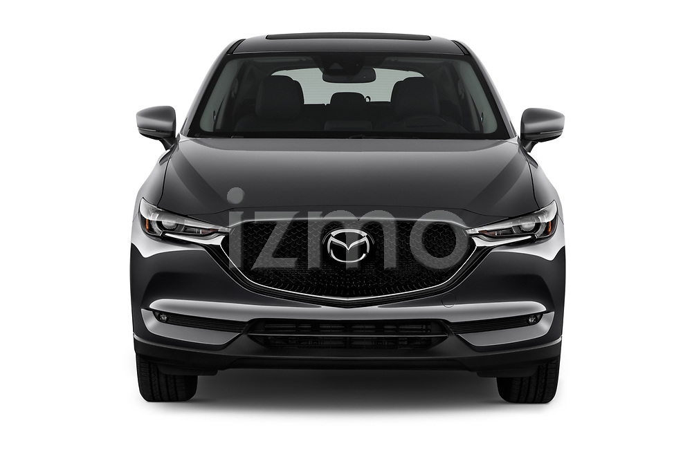 Car photography straight front view of a 2017 Mazda CX-5 Grand-Touring 5 Door SUV Front View