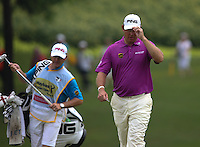 Lee Westwood (ENG) takes the applause from the crowds during the Final Round of the 2014 Maybank Malaysian Open at the Kuala Lumpur Golf & Country Club, Kuala Lumpur, Malaysia. Picture:  David Lloyd / www.golffile.ie