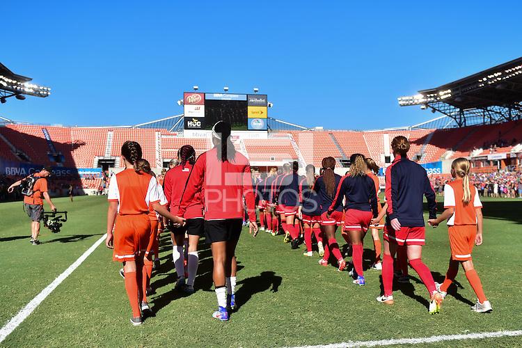 Houston, TX - Sunday Oct. 09, 2016: Western New York Flash, Washington Spirit  prior to a National Women's Soccer League (NWSL) Championship match between the Washington Spirit and the Western New York Flash at BBVA Compass Stadium.