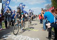 Geraint Thomas (GBR/SKY) & Bert De Backer (BEL/Giant-Shimano) coming out of Carrefour de l'Arbre<br /> <br /> Paris-Roubaix 2014