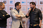 (LtoR) Singers Guillermo Fernandez, Ariel Ardit and Miguel Poveda during the press conference and rehearsal of Festival Unicos. September 24, 2019. (ALTERPHOTOS/Johana Hernandez)
