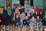MEDALS: Kerry football star Sea?n O'Sullivan (seated 3rd from right), presented the successful Clounmacon team winners of the Urban League with their medals at a function in the New Kingdom Bar on Saturday night.   Copyright Kerry's Eye 2008