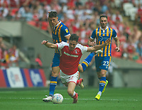 Rotherham Joe Newell during the Sky Bet League 1 Play Off FINAL match between Rotherham United and Shrewsbury Town at Wembley, London, England on 27 May 2018. Photo by Andrew Aleksiejczuk / PRiME Media Images.