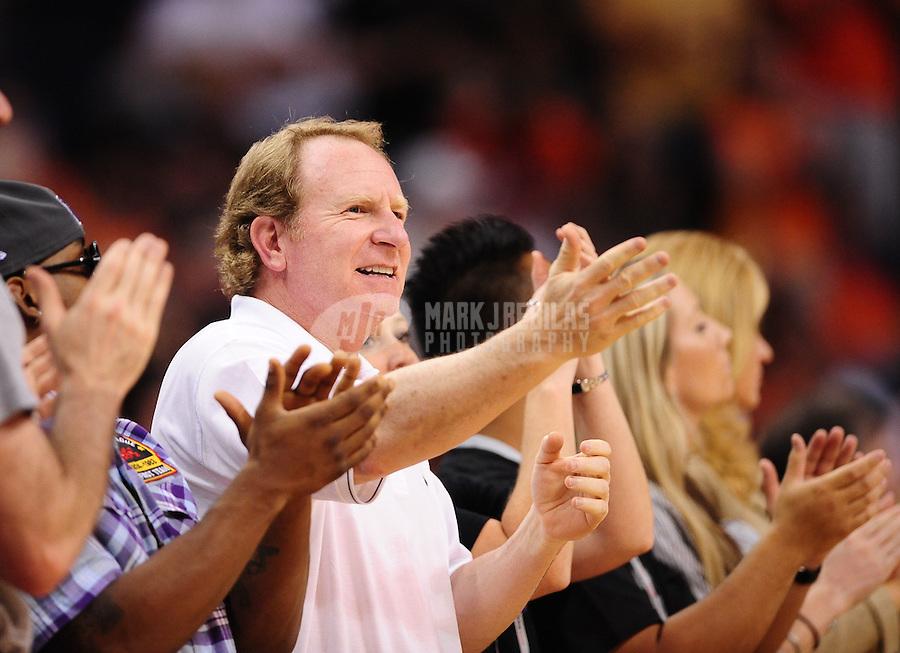 Mar. 27, 2011; Phoenix, AZ, USA; Phoenix Suns owner Robert Sarver against the Dallas Mavericks at the US Airways Center. The Maverick defeated the Suns 91-83. Mandatory Credit: Mark J. Rebilas-