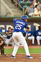 Theo Alexander (25) of the Ogden Raptors at bat against the Missoula Osprey in Pioneer League action at Lindquist Field on August 4, 2014 in Ogden, Utah.  (Stephen Smith/Four Seam Images)