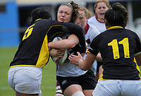 Action from the 2018 Farah Palmer Cup women's rugby Championship semifinal match between Wellington Pride and North Harbour Hibiscus at Jerry Collins Stadium in Porirua, Wellington, New Zealand on Saturday, 13 October 2018. Photo: Dave Lintott / lintottphoto.co.nz