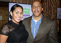 NWA Democrat-Gazette/CARIN SCHOPPMEYER Leihua and Rob Burns, The Big Event co-host, help support Big Brothers Big Sisters of Northwest Arkansas.