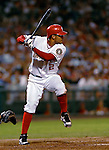 4 August 2007: Washington Nationals infielder Felipe Lopez in action against the St. Louis Cardinals at RFK Stadium in Washington, DC. The Nationals defeated the Cardinals 12-1 in the second game of their 3-game series...Mandatory Photo Credit: Ed Wolfstein Photo