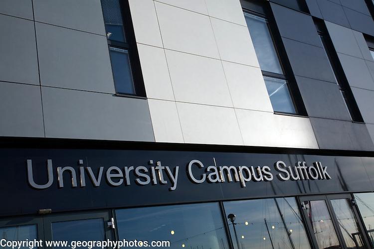 University Campus Suffolk building, Ipswich, England