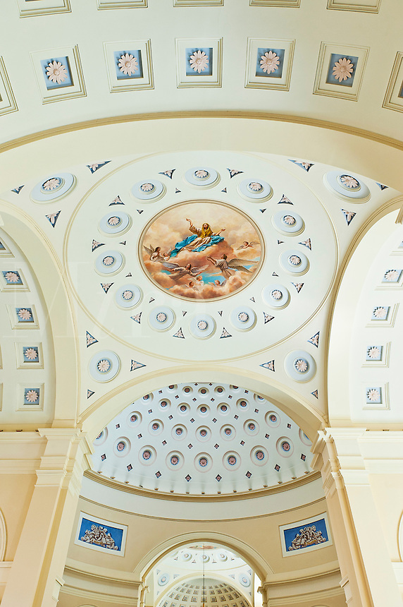 Ceiling, America's First Cathedral, the Basilica of the National Shrine of the Assumption of the Blessed Virgin Mary,  Baltimore, Maryland, USA